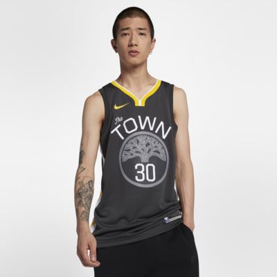 金州勇士队 (Stephen Curry) Statement Edition Swingman Jersey Nike NBA Connected Jersey 男子球衣