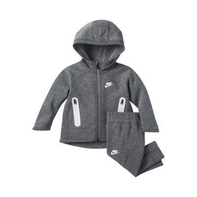 Zestaw bluza z kapturem i spodnie dla niemowląt (12-24 M) Nike Sportswear Tech Fleece