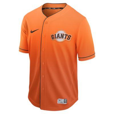 Men's Baseball Jersey. Nike Fade (MLB Giants)