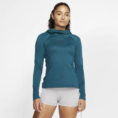 Γυναικεία μπλούζα προπόνησης με κουκούλα Nike Pro HyperWarm Hooded