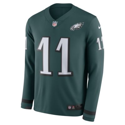 NFL Philadelphia Eagles Jersey (Carson Wentz) Men's Long-Sleeve Football Jersey