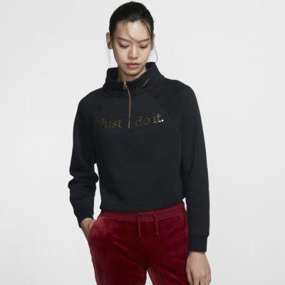 เสื้อคอตั้งซิปสั้นผู้หญิง Nike Sportswear