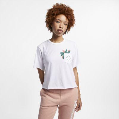 T-shirt recortada Hurley Hanoi Pocket para mulher