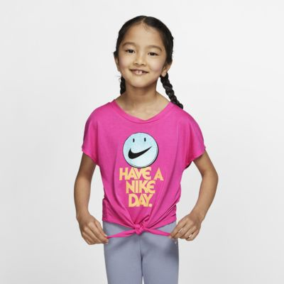 Nike Little Kids' Tie-Front T-Shirt