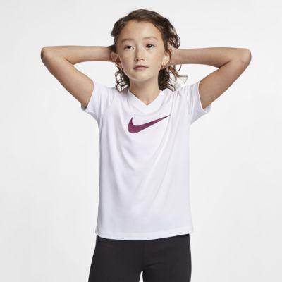 Playera de entrenamiento para niños talla grande Swoosh Nike Dri-FIT