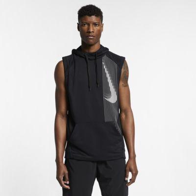 Męska bluza treningowa z kapturem i bez rękawów Nike Dri-FIT