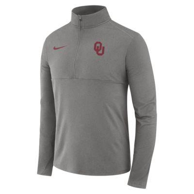 Nike College Therma (Oklahoma) Men's Long-Sleeve 1/2-Zip Top