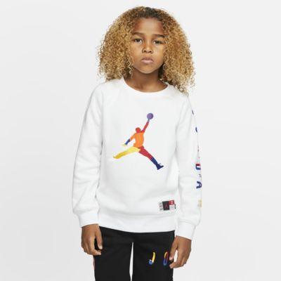 Fleecetröja med rund hals Air Jordan för barn