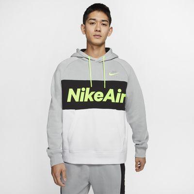 Fleecehuvtröja Nike Air i pullovermodell för män