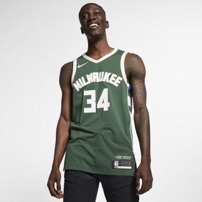 Giannis Antetokounmpo Icon Edition Authentic (Milwaukee Bucks) Men's Nike NBA Connected Jersey