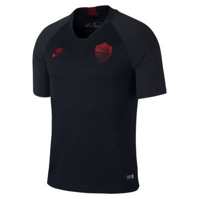 Kortärmad fotbollströja Nike Breathe A.S. Roma Strike för män