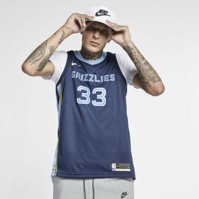 Marc Gasol Icon Edition Swingman (Memphis Grizzlies) tilkoblet Nike NBA-drakt til herre