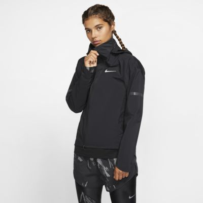 Chamarra de running con capucha para mujer Nike AeroShield