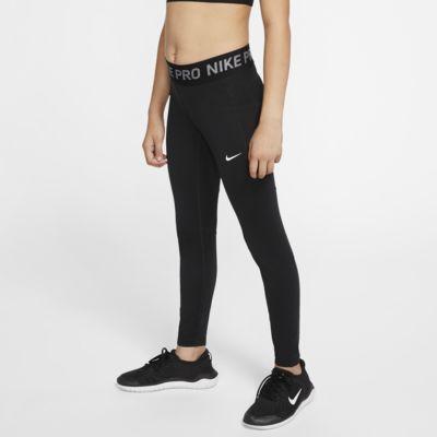 Nike Pro Warm 大童(女孩)保暖训练紧身裤