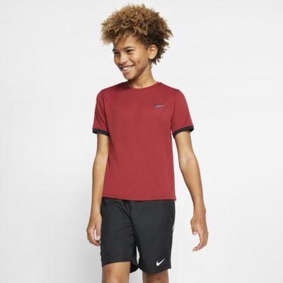 Κοντομάνικη μπλούζα τένις NikeCourt Dri-FIT για μεγάλα αγόρια