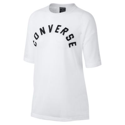 Converse Embroidered Mesh Boxy Women's T-Shirt