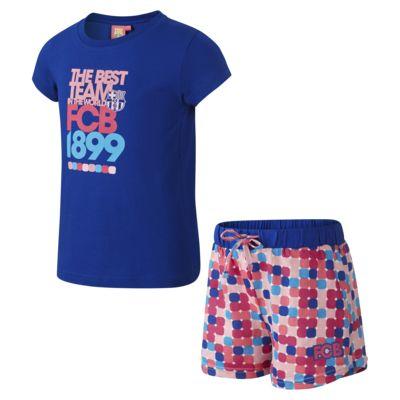 2abfe532471 FC Barcelona Two-Piece Younger Kids' (Girls') Pyjamas. Nike.com GB