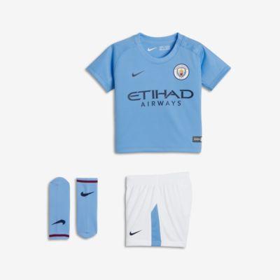 Футбольный комплект для малышей 2017/18 Manchester City FC Stadium Home  - купить со скидкой