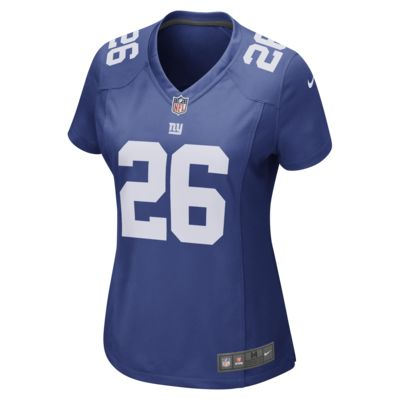 NFL New York Giants Game (Saquon Barkley) Women's Football Jersey