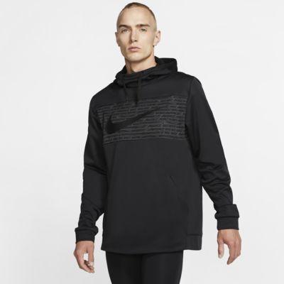 Ανδρική φλις μπλούζα προπόνησης με κουκούλα Nike Therma
