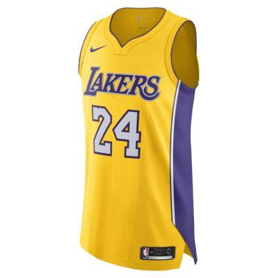 洛杉矶湖人队 Icon Edition Authentic Nike NBA Connected Jersey 男子球衣