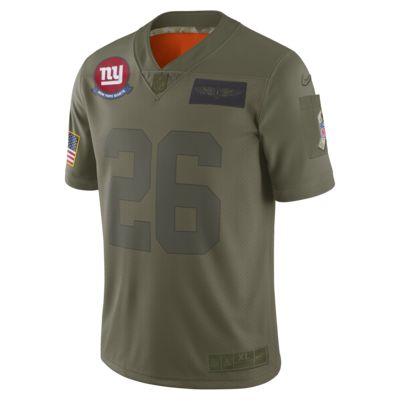 NFL New York Giants Limited Salute To Service (Saquon Barkley) Men's Football Jersey