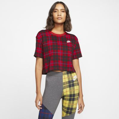Nike Sportswear NSW Women's Cropped Checked T-Shirt