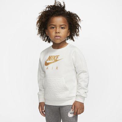Nike Air Fleeceshirt met ronde hals voor peuters