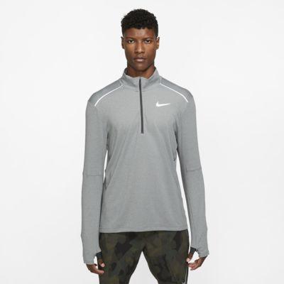Nike 3.0 Lauf-Rundhalsshirt mit Halbreißverschluss für Herren