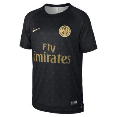 Haut de football à manches courtes Paris Saint-Germain Dri-FIT Squad pour Enfant plus âgé