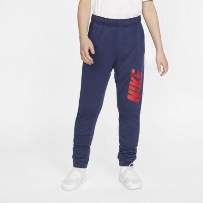 Nike Dri-FIT schmal zulaufende Trainingshose mit Grafik für Jungen