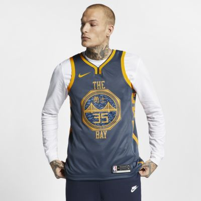 Camiseta conectada Nike NBA para hombre Kevin Durant City Edition Swingman (Golden State Warriors)