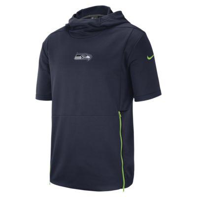 Ανδρική κοντομάνικη μπλούζα με κουκούλα Nike Dri-FIT Therma (NFL Seahawks)
