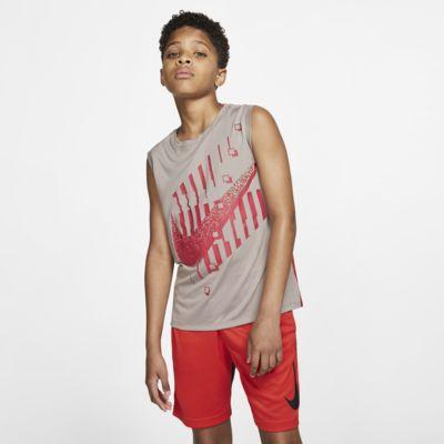 Nike Dri-FIT Older Kids' (Boys') Graphic Training Sleeveless Top