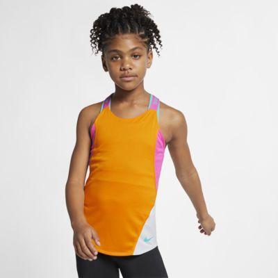 Koszulka treningowa bez rękawów dla dużych dzieci (dziewcząt) Nike Dri-FIT