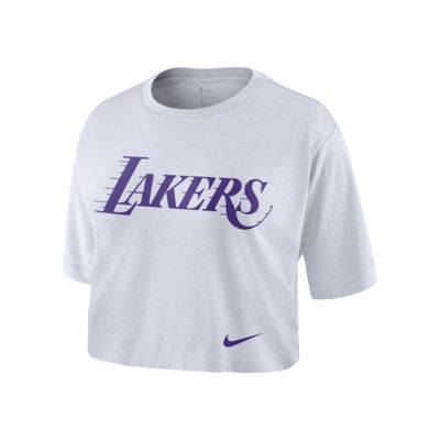 Los Angeles Lakers Nike Women's NBA Cropped T-Shirt
