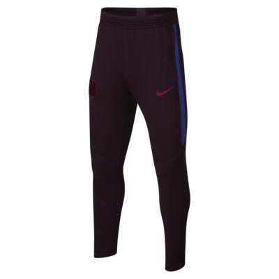 Fotbalové kalhoty Nike Dri-FIT FC Barcelona Strike pro větší děti