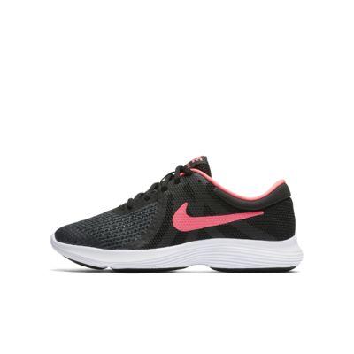Купить Беговые кроссовки для школьников Nike Revolution 4, Черный/Белый/Розовый, 20564845, 12002285