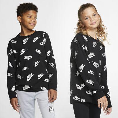 Playera de manga larga para niños talla grande Nike Sportswear