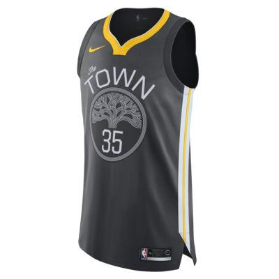 Kevin Durant Statement Edition Authentic (Golden State Warriors) tilkoblet Nike NBA-drakt til herre