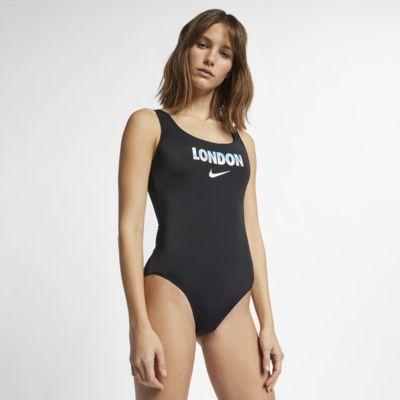 Jednoczęściowy damski kostium kąpielowy Nike City Series U-Back (London)