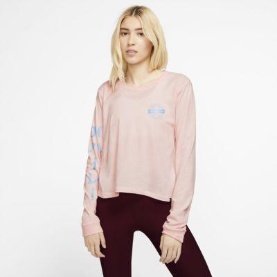 Långärmad t-shirt Hurley Global Perfect för kvinnor