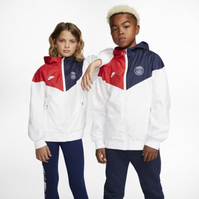Paris Saint-Germain Windrunner Big Kids' Jacket