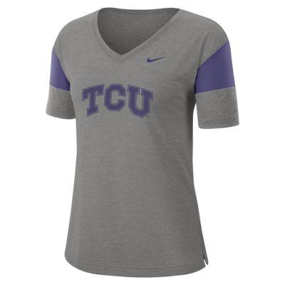 Nike College Breathe (TCU) Women's Short-Sleeve V-Neck Top
