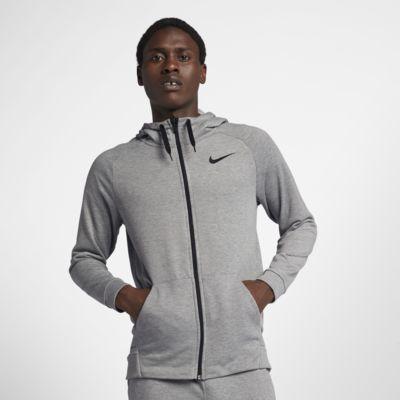 Nike Dri-FIT - træningshættetrøje med lynlås til mænd