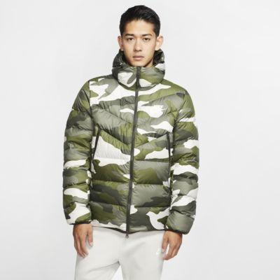 Nike Sportswear Down Fill Windrunner-dunjakke med hætte og print