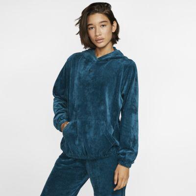 Nike Sportswear-velourhættetrøje til kvinder