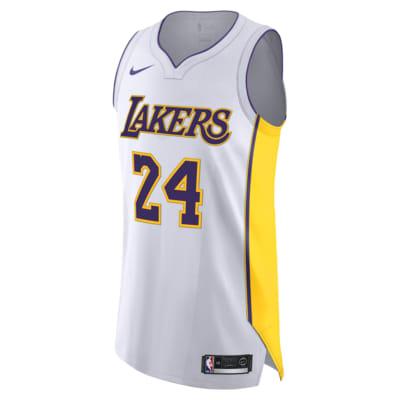 Maillot connecté Nike NBA Kobe Bryant Association Edition Authentic (Los Angeles Lakers) pour Homme