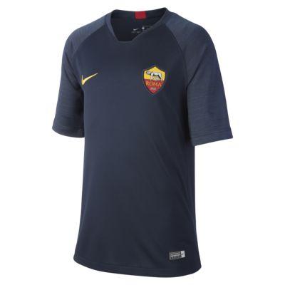 Kortærmet Nike Breathe A.S. Roma Strike-fodboldtrøje til store børn