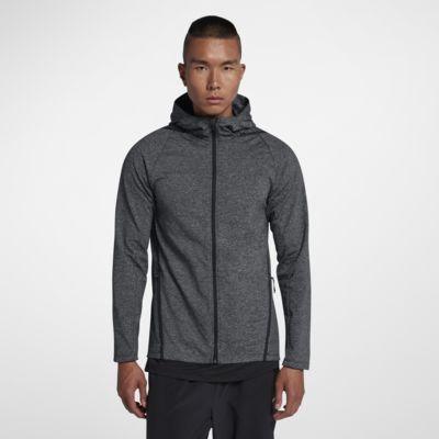 Nike Dri-FIT Uzun Kollu Tam Boy Fermuarlı Erkek Antrenman Kapüşonlu Üst